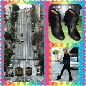 """American Living """"Kallee"""" Fringe Booties"""